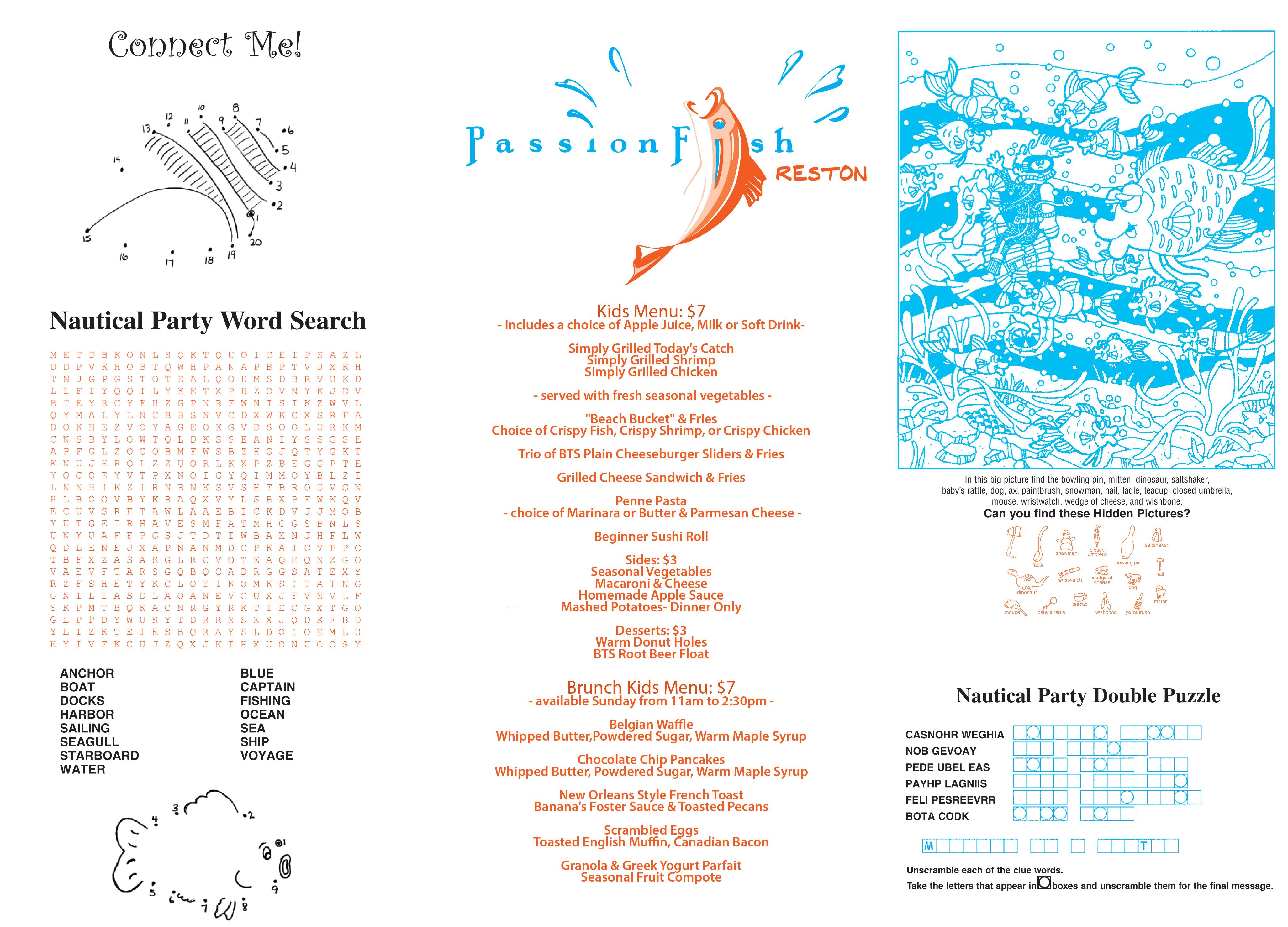 Passionfish reston for Passion fish reston menu